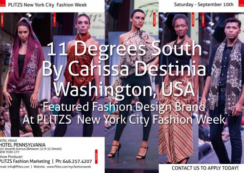 12:45PM – 11 Degrees South By Carissa Destinia – Washington, USA