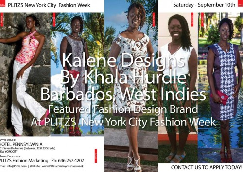 1:15PM – Kalene Designs By Khala Hurdle – Barbados, West Indies