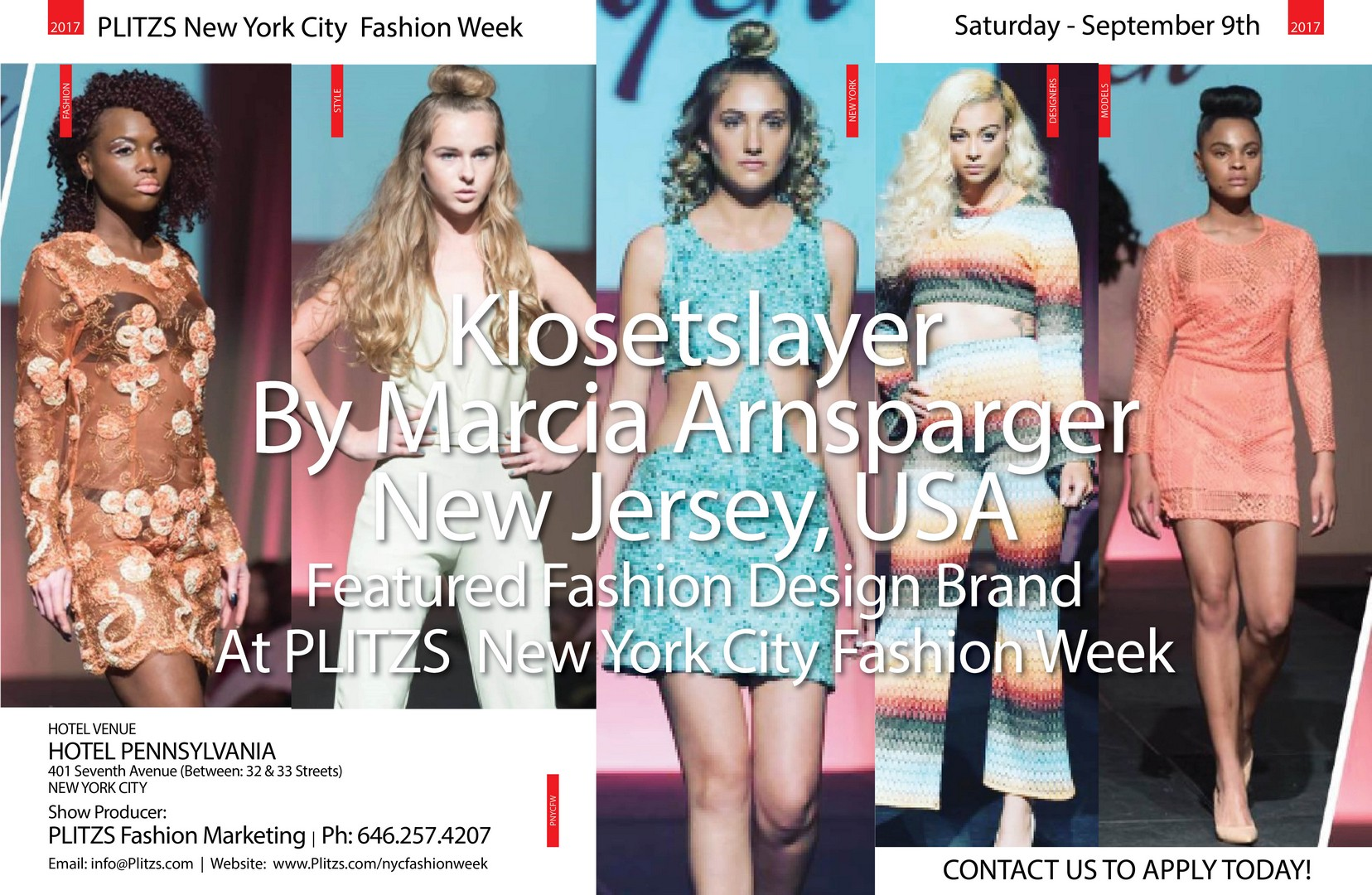 8:30PM – Klosetslayer By Marcia Arnsparger – New Jersey, USA Klosetslayer designer profile poster 2