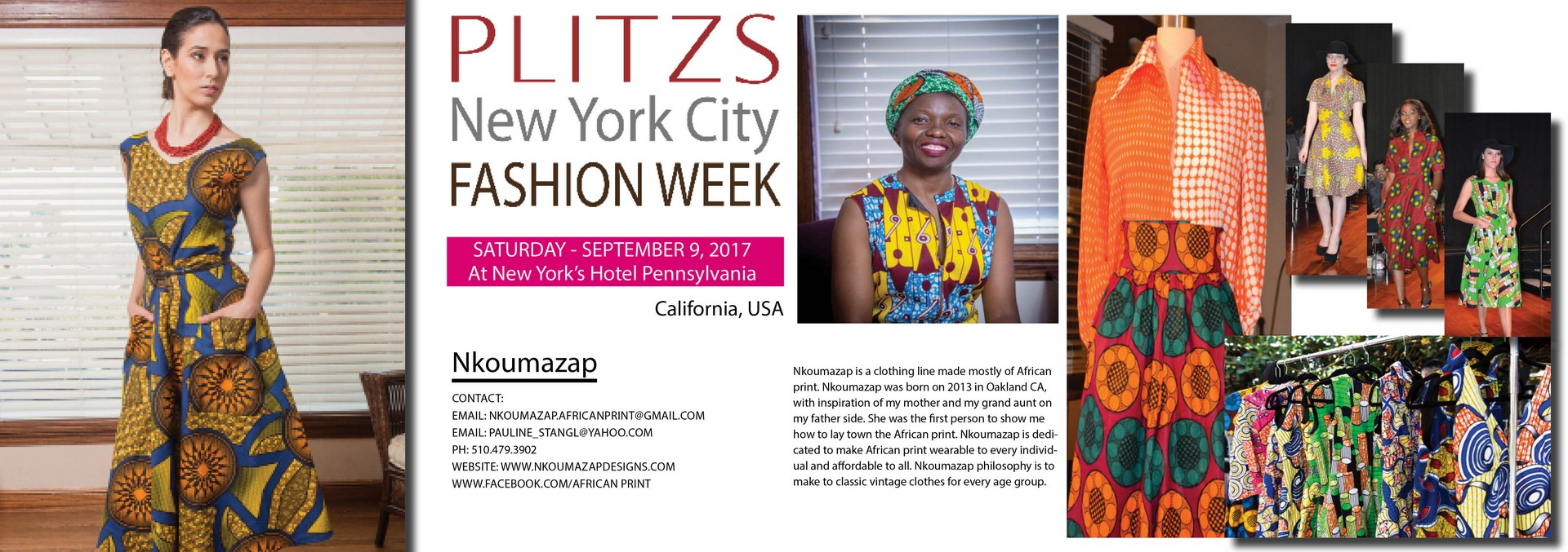 2 00pm Nkoumazap Designs By Pauline Stangl California Usa Plitzs New York City Fashion Week