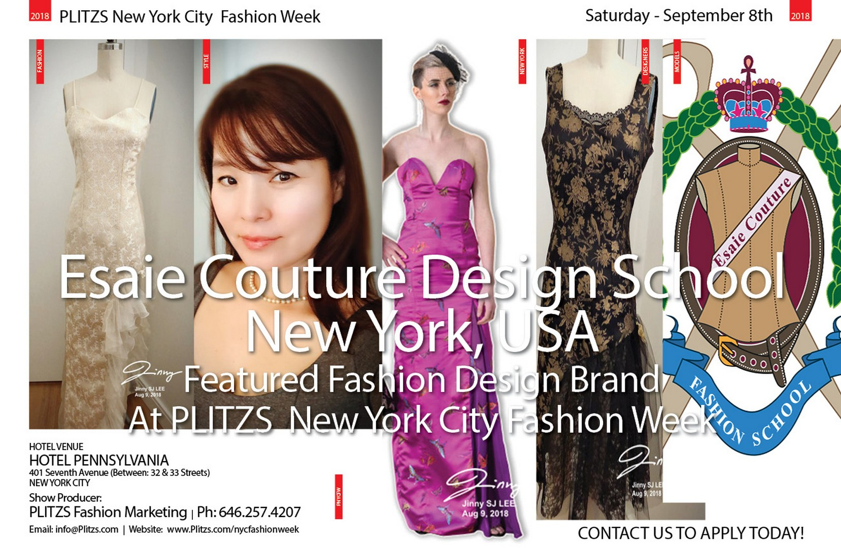 9 30pm Esaie Couture Design School New York Usa Plitzs New York City Fashion Week