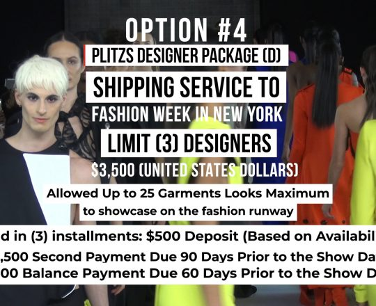 SHIPPING SERVICE DESIGNER PACKAGE (D) TO FASHION WEEK IN NEW YORK