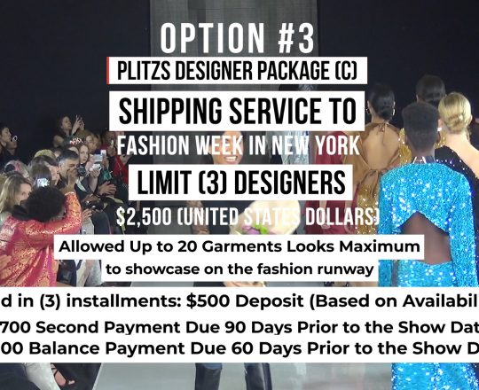SHIPPING SERVICE DESIGNER PACKAGE (C) TO FASHION WEEK IN NEW YORK