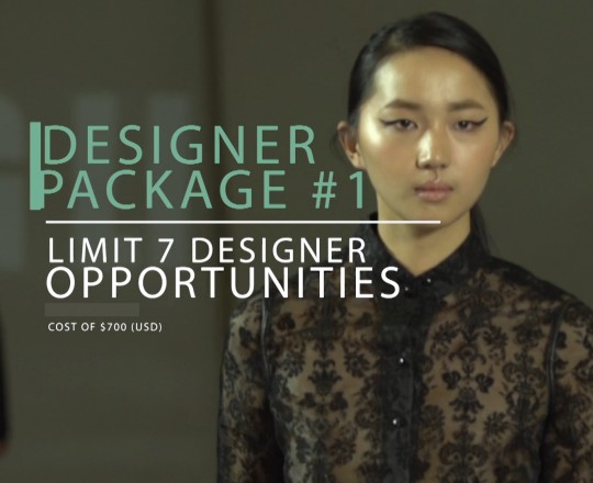Designer Package #1 for Fashion Week in New York