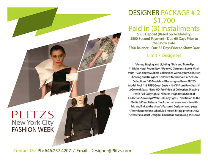 1st deposit pnycfw  designer package #2 1ST DEPOSIT – PLITZS NEW YORK CITY FASHION WEEK – DESIGNER PACKAGE #2 PNYCFW MEDIA KIT DESINER PACKAGES3TO25B
